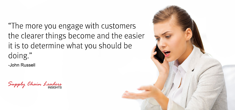 John Russell Customer Service Quote